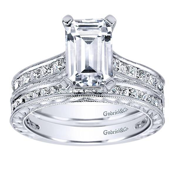 Gabriel & Co ER8810 Emerald Cut Diamond Setting