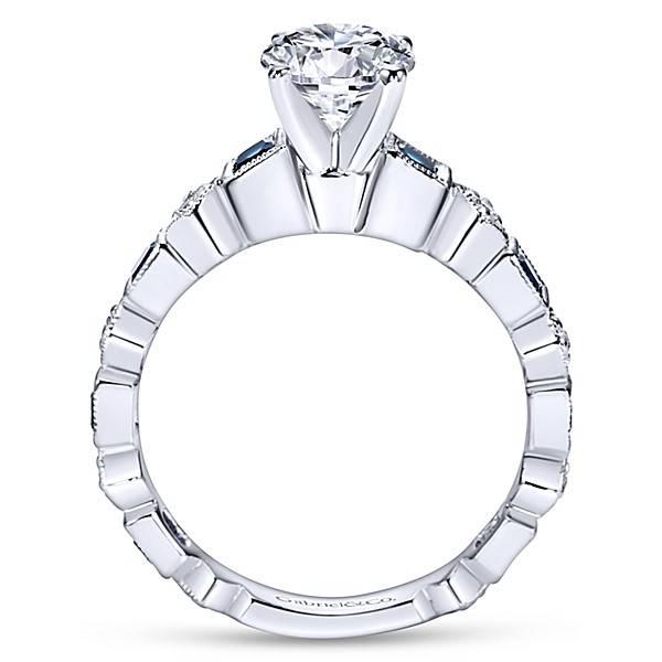 Gabriel & Co ER5660 alternating diamond sapphire engagement ring setting