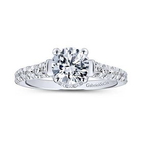 ER12679 Peekaboo Diamond Engagement Ring