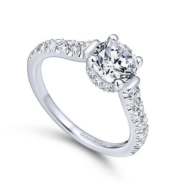Gabriel & Co ER12679 Peekaboo Diamond Engagement Ring