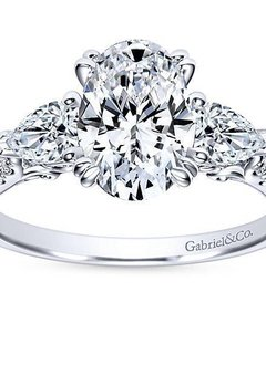 ER9048 oval and pear shape diamond engagement ring