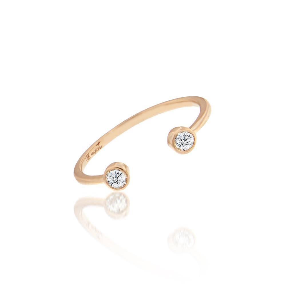 LR4234 open diamond ring