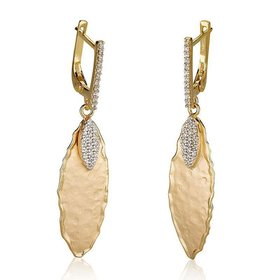 ER3071Y gold leaf earrings 0.35 ct tw