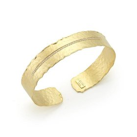 BIR458Y gold and diamond cuff bracelet