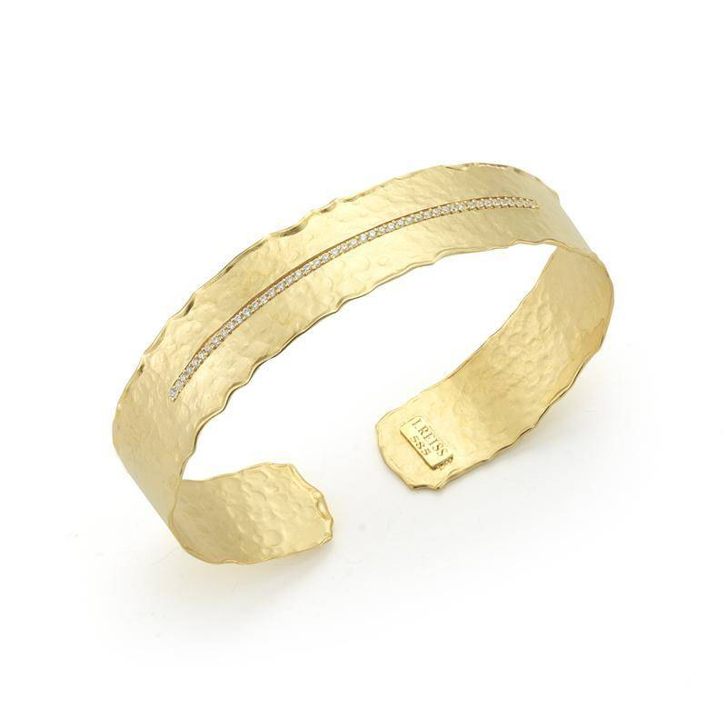 I. Reiss BIR458Y Gold and diamond cuff bracelet