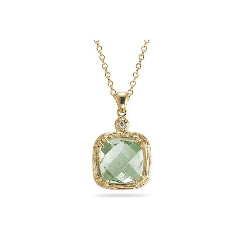 IR3263YGA Green Amethyst Necklace