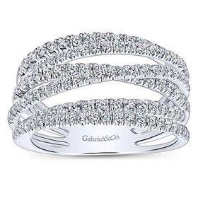 LR50964 multi row diamond band