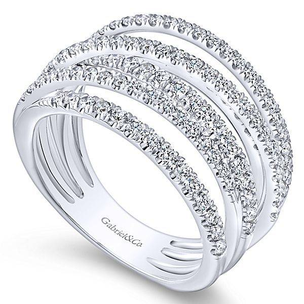 Lr50964 Multi Row Diamond Band
