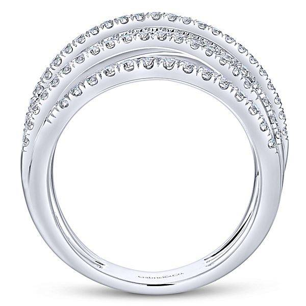 Gabriel & Co LR50964 multi row diamond band