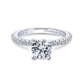 Logan Thin Prong Set Engagement Ring Setting