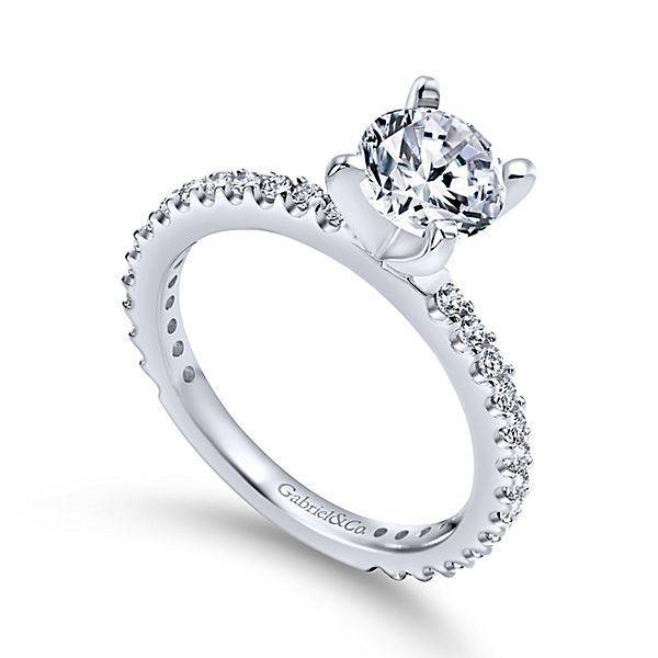 Gabriel & Co Logan Thin Prong Set Engagement Ring Setting