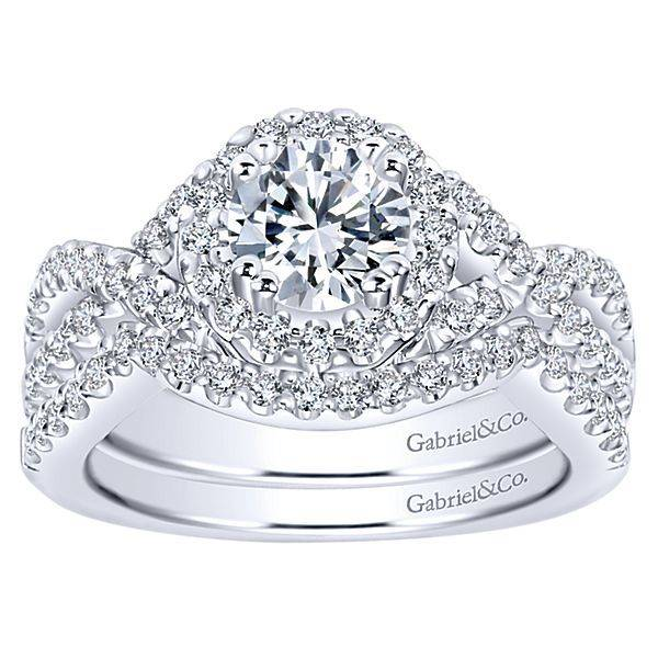 Gabriel & Co ER5798 14k  Kendie 0.48ct. 6.0mm.