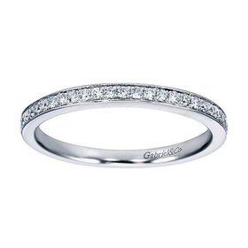WB7444 thin channel set diamond band