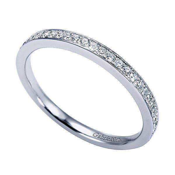 Gabriel & Co WB7444 thin channel set diamond band