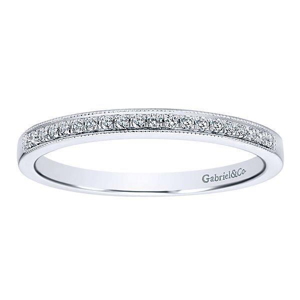 Gabriel & Co AN12081 Milgrain diamond band