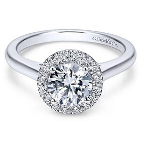 ER7265 Round Halo Engagement Ring