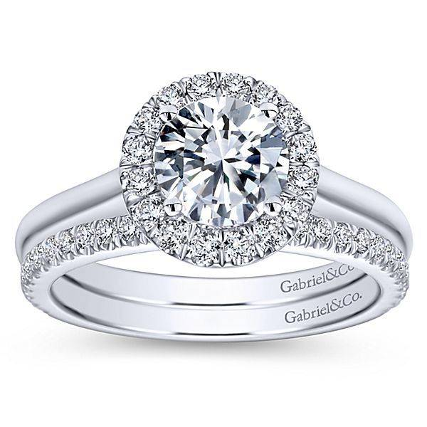 Gabriel & Co ER7265 Round Halo Engagement Ring