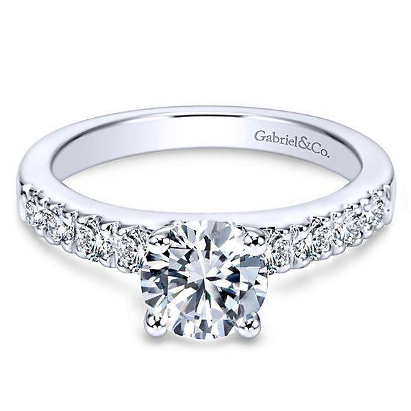 Gabriel & Co Pave Diamond Engagement Ring Setting