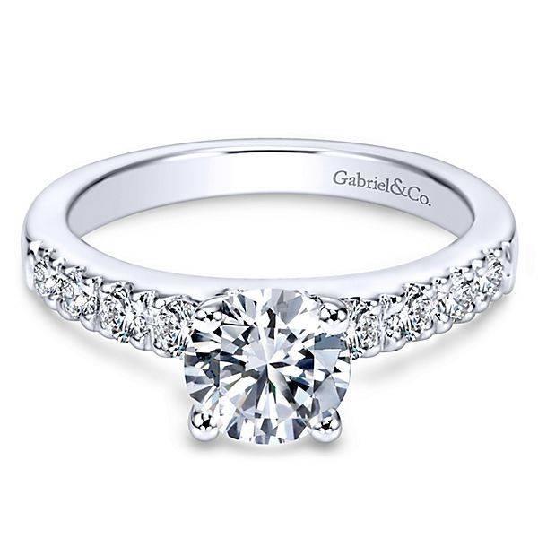 b76fe46f9613a Pave Diamond Engagement Ring Setting