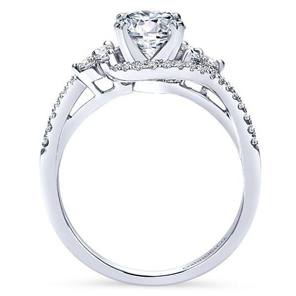 Gabriel & Co Izzie Bypass Engagement Ring Setting