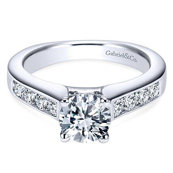 Gabriel & Co ER3962 14k Anderson 0.51ct. 6.5mm.