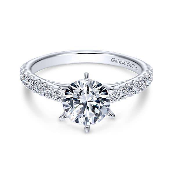 Gabriel & Co ER6692 LYSSA 14k 0.36ct 6.5mm