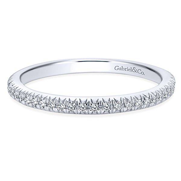 Gabriel & Co WB4181 thin diamond wedding band