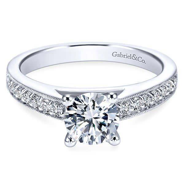 Gabriel & Co Tess Milgrain Engagement Ring Setting