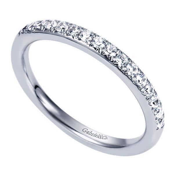 Gabriel & Co AN5318 thin pave diamond band