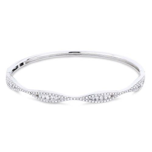 B1032W Diamond Bangle Bracelet