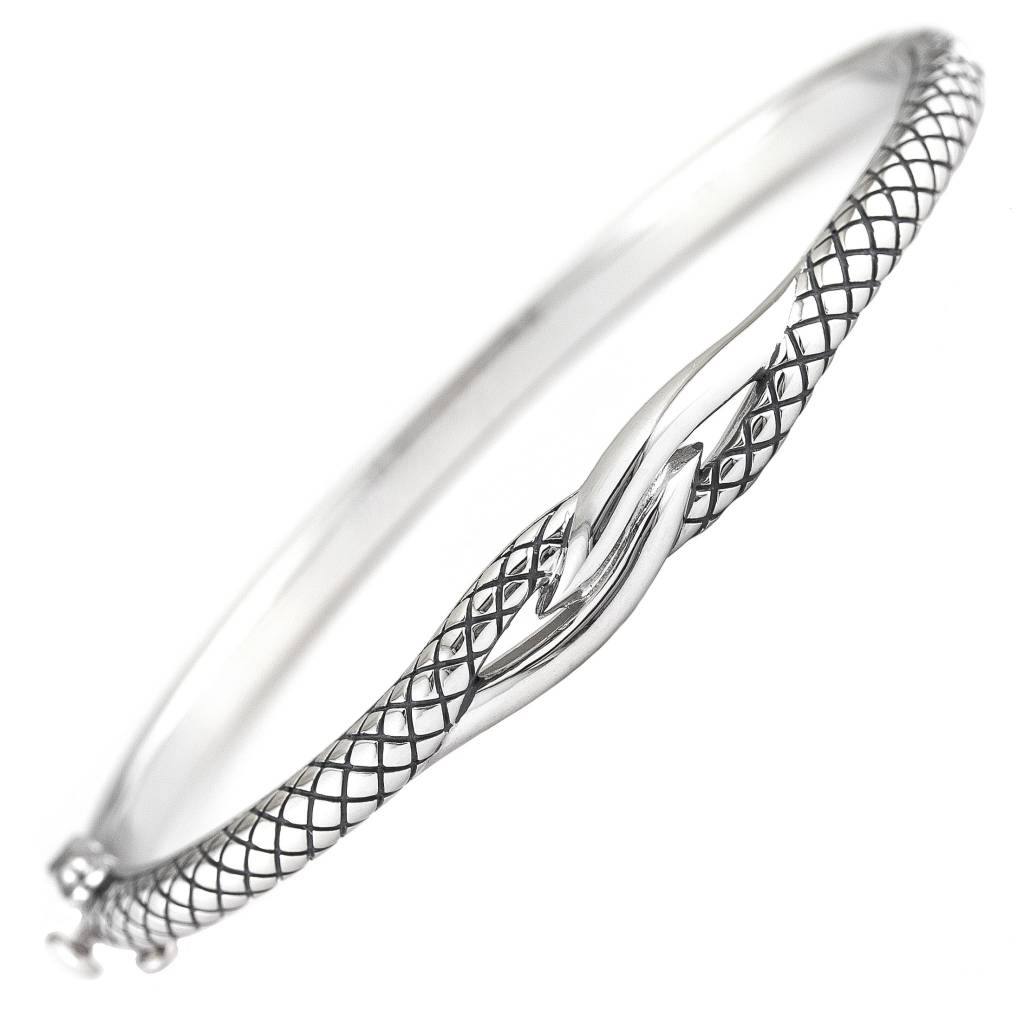 Acb290 Twisted Silver Bracelet