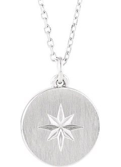 14kt gold starburst necklace