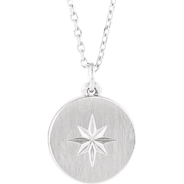 Stuller 14kt gold starburst necklace