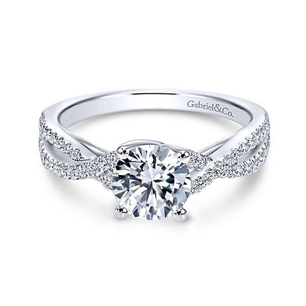 Gina Twisted Engagement Ring Setting