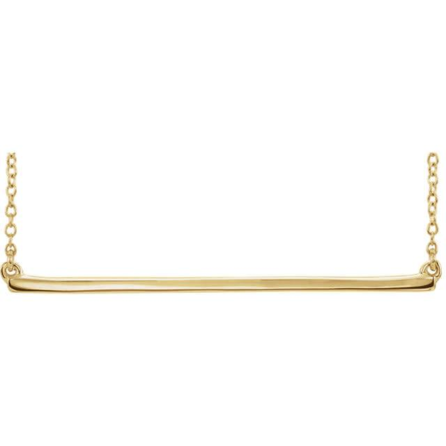 86048 Yellow Gold Bar Necklace