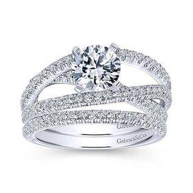 Mackenzie Multi Row Diamond Engagement Ring Setting