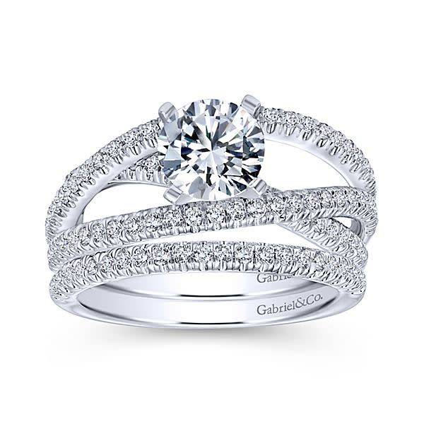Gabriel & Co Mackenzie Multi Row Diamond Engagement Ring Setting