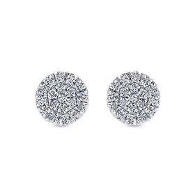 EG12966 Diamond Cluster Earrings