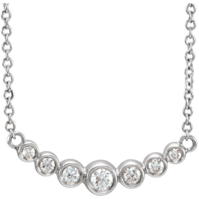 Stuller Curved Diamond Bezel Necklace
