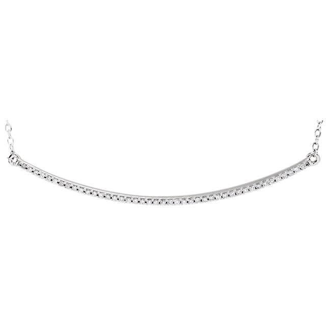 Stuller 14kt White Gold Diamond Bar Necklace