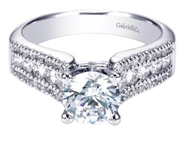 Gabriel & Co ER3952 Contemporary Engagement Ring