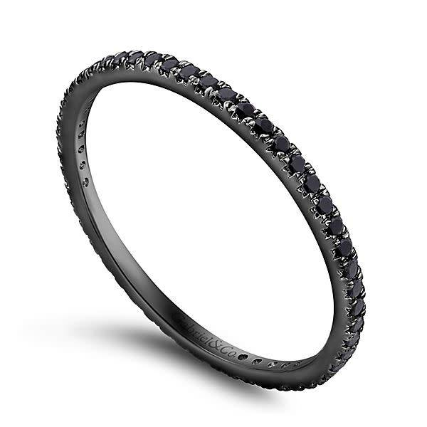 Gabriel & Co AN11377 Black diamond eternity band