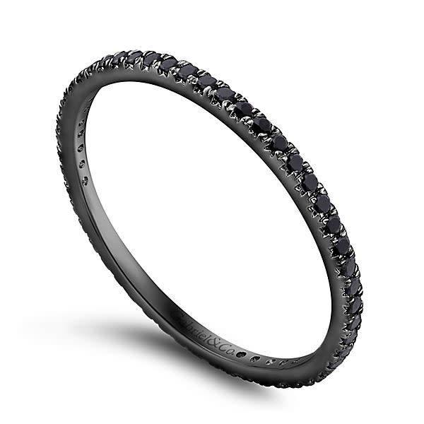 An11377 Black Diamond Eternity Band Freedman Jewelers