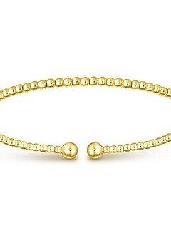 BG4107 14kt yellow gold ball bangle bracelet
