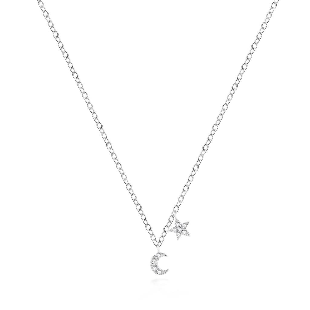 Meira T 1NK14 Mini Moon & Star Necklace