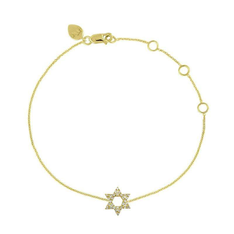Star of David Diamond Bracelet