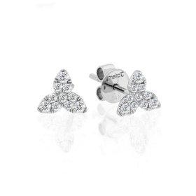 Floral diamond earrings 0.22 carat total