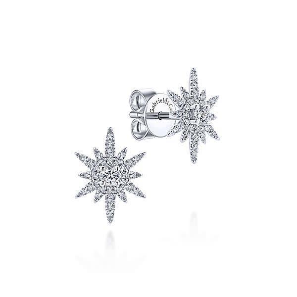 Gabriel & Co Diamond Starburst Earrings