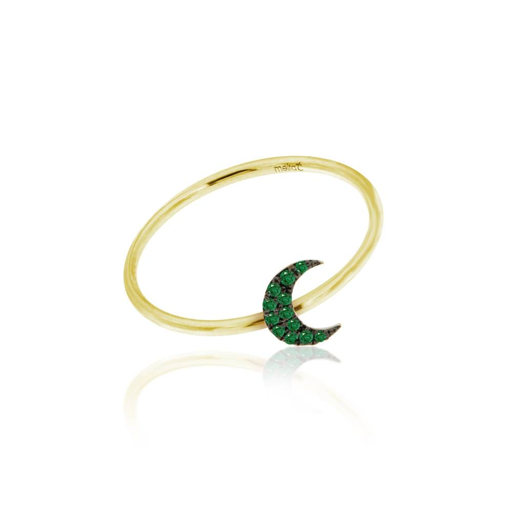 Essential Emerald Moon Ring