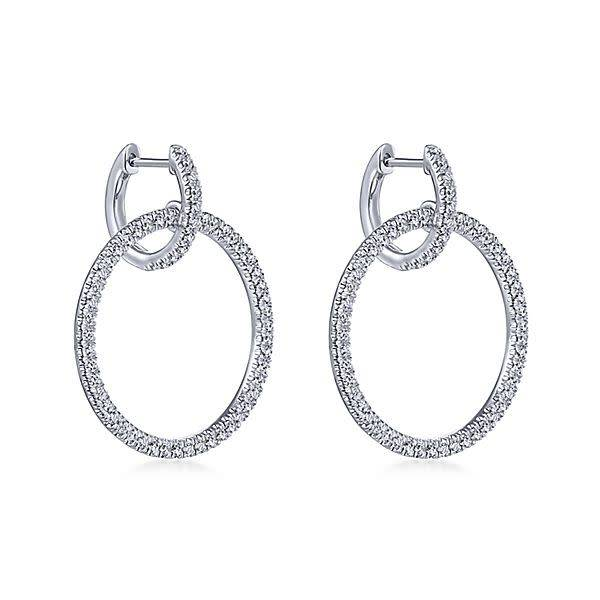 Gabriel & Co Diamond Huggie earrings